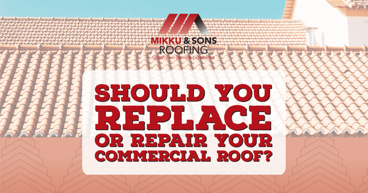 blog title: Should You Replace or Repair Your Commercial Roof?